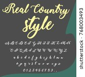 vector set of hand drawn fonts... | Shutterstock .eps vector #768003493