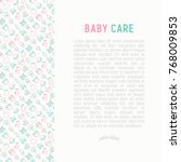 baby care concept with thin... | Shutterstock .eps vector #768009853