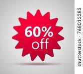 60  offer discount label. sale... | Shutterstock .eps vector #768012283