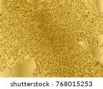 gold sequins texture. abstract...   Shutterstock .eps vector #768015253
