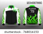 warm coat sport design front... | Shutterstock .eps vector #768016153