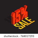 15  percent off  sale  red... | Shutterstock .eps vector #768017293