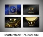 vip cards design template on...   Shutterstock .eps vector #768021583