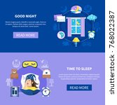 night sleeping habits bedroom... | Shutterstock .eps vector #768022387