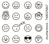 emotional hand drawn faces... | Shutterstock . vector #768025867
