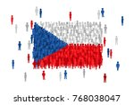 vector czech republic state... | Shutterstock .eps vector #768038047