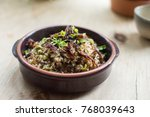 lebanese mujadara   rice and... | Shutterstock . vector #768039643