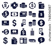 set of 25 cash filled icons... | Shutterstock .eps vector #768046087