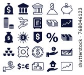 set of 25 investment filled and ... | Shutterstock .eps vector #768046123