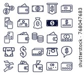 set of 25 pay outline icons... | Shutterstock .eps vector #768047683