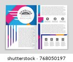 abstract vector layout... | Shutterstock .eps vector #768050197