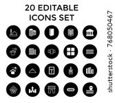Architecture Icons. Set Of 20...