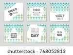 abstract vector layout... | Shutterstock .eps vector #768052813