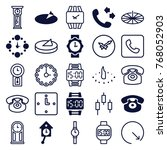 set of 25 dial filled and... | Shutterstock .eps vector #768052903