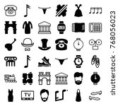 set of 36 classic filled and... | Shutterstock .eps vector #768056023