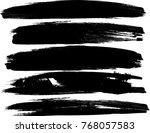 grunge paint stripe . vector... | Shutterstock .eps vector #768057583