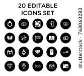 gift icons. set of 20 editable... | Shutterstock .eps vector #768063283