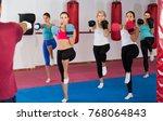group of vigorous women and... | Shutterstock . vector #768064843