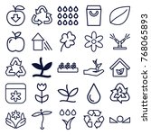 set of 25 eco outline icons...