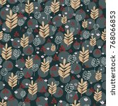seamless pattern with... | Shutterstock .eps vector #768066853