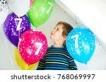 portrait of happy kid boy with...   Shutterstock . vector #768069997