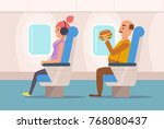 people the plane.  vector.... | Shutterstock .eps vector #768080437