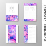 brochure template layout with... | Shutterstock .eps vector #768082537