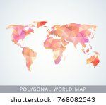 polygonal world map for... | Shutterstock .eps vector #768082543