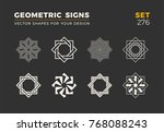 set of eight minimalistic... | Shutterstock .eps vector #768088243