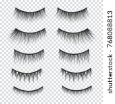 feminine lashes vector set.... | Shutterstock .eps vector #768088813