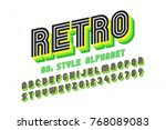 80's retro font  disco style ... | Shutterstock .eps vector #768089083