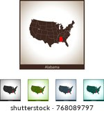 map of alabama | Shutterstock .eps vector #768089797