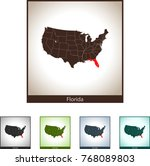 map of florida | Shutterstock .eps vector #768089803
