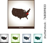 map of virginia | Shutterstock .eps vector #768089833
