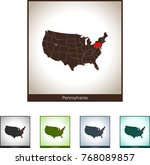 map of pennsylvania | Shutterstock .eps vector #768089857