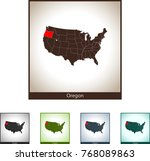 map of oregon | Shutterstock .eps vector #768089863