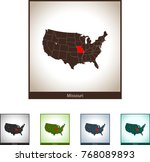 map of missouri | Shutterstock .eps vector #768089893