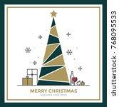 modern flat line creative... | Shutterstock .eps vector #768095533