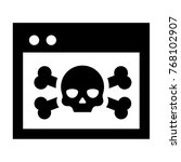 malware icon vector in glyph...