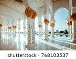 abu dhabi  united arab emirates ... | Shutterstock . vector #768103537