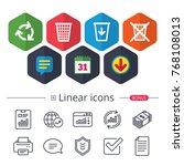 calendar  speech bubble and...   Shutterstock .eps vector #768108013