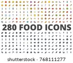 food icon silhouette and... | Shutterstock .eps vector #768111277