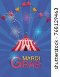 carnival and fun fair flyer... | Shutterstock .eps vector #768129463