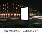 blank white advertisement light ... | Shutterstock . vector #768131947