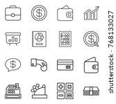 thin line icon set   portfolio  ... | Shutterstock .eps vector #768133027