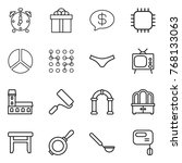 thin line icon set   alarm... | Shutterstock .eps vector #768133063