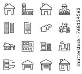 thin line icon set   home ... | Shutterstock .eps vector #768134563