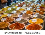 spices at the market in the old ... | Shutterstock . vector #768136453