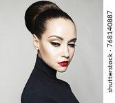 fashion art studio portrait of... | Shutterstock . vector #768140887