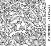 cartoon cute doodles hand drawn ... | Shutterstock .eps vector #768141283